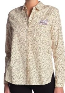 NWT Paul & Joe Sister Cat Embroidery Floral Blouse
